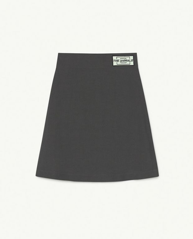 Black Animals Swan Till Skirt
