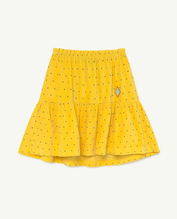 Yellow Dots Bird Skirt