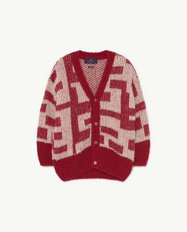 Red Racoon Cardigan