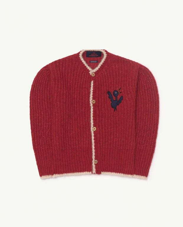 Red Bird Parrot Cardigan