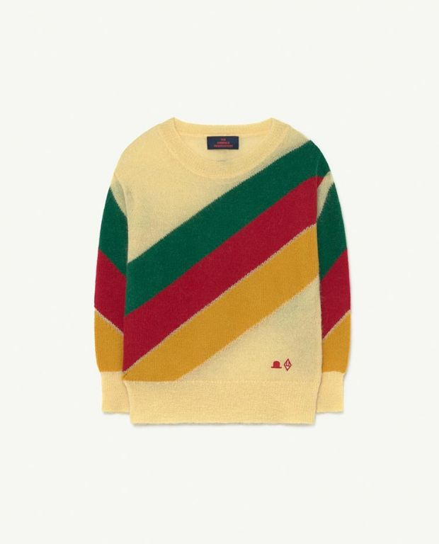 Yellow Hat Stripes Bull Knit