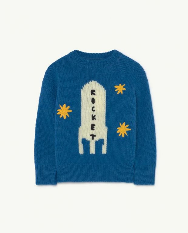 Blue Space Bull Knit