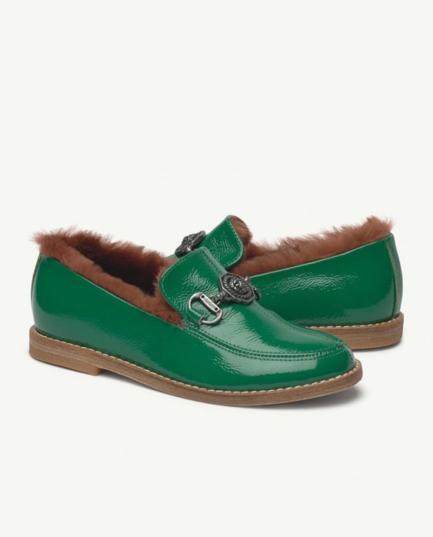 Green Donkey Leather Shoes