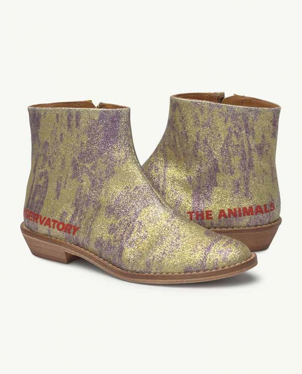 Yellow Glitter Coyote Boot