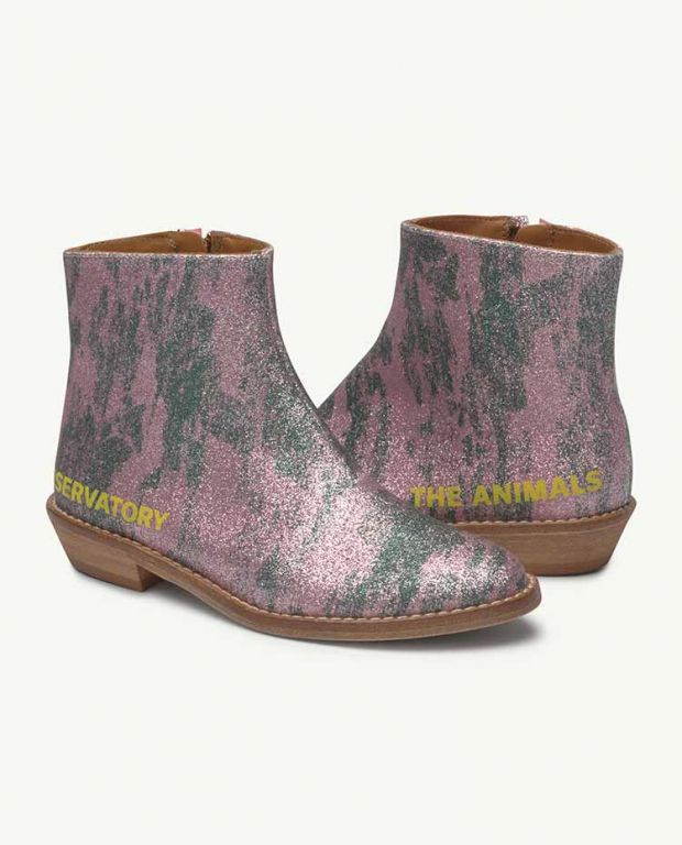 Pink Glitter Coyote Boot