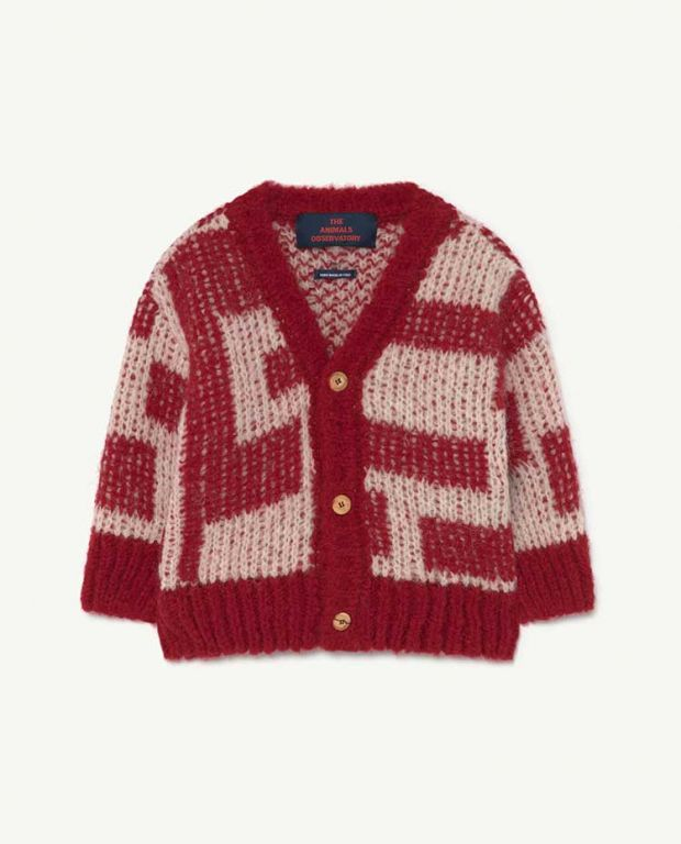 Baby Red Racoon Cardigan