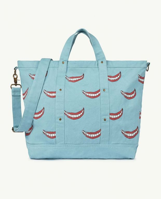Big Blue Smile Canvas Bag