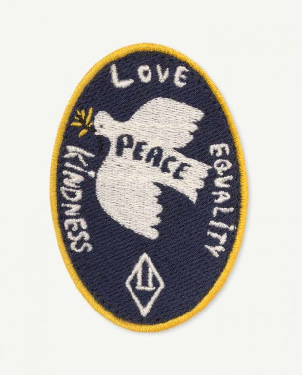 Navy Blue Peace Badge
