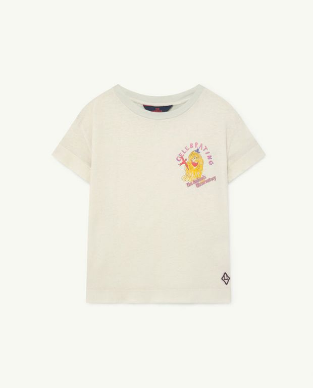 Soft White Celebrate Detail Rooster T-Shirt