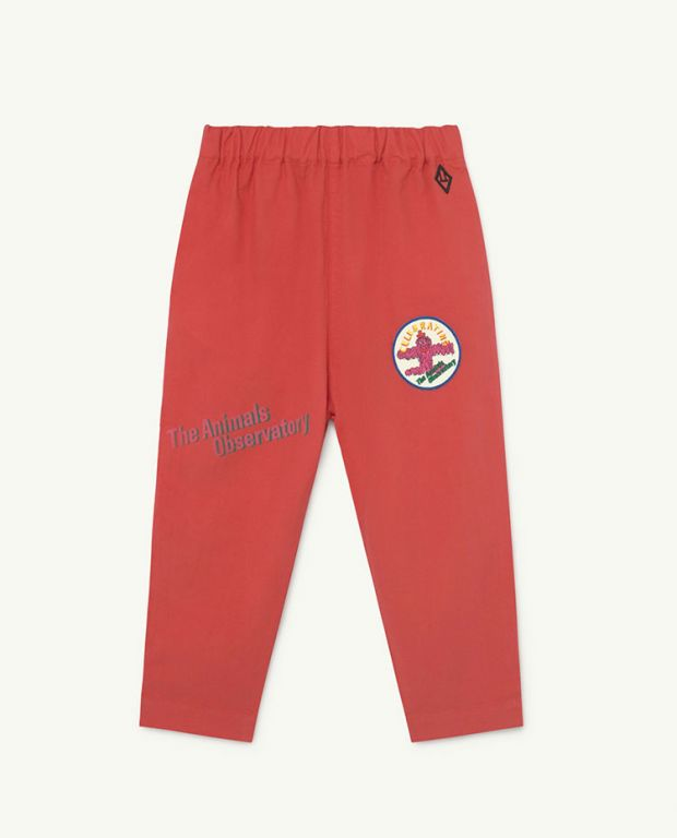 Red Celebrate Elephant Trousers