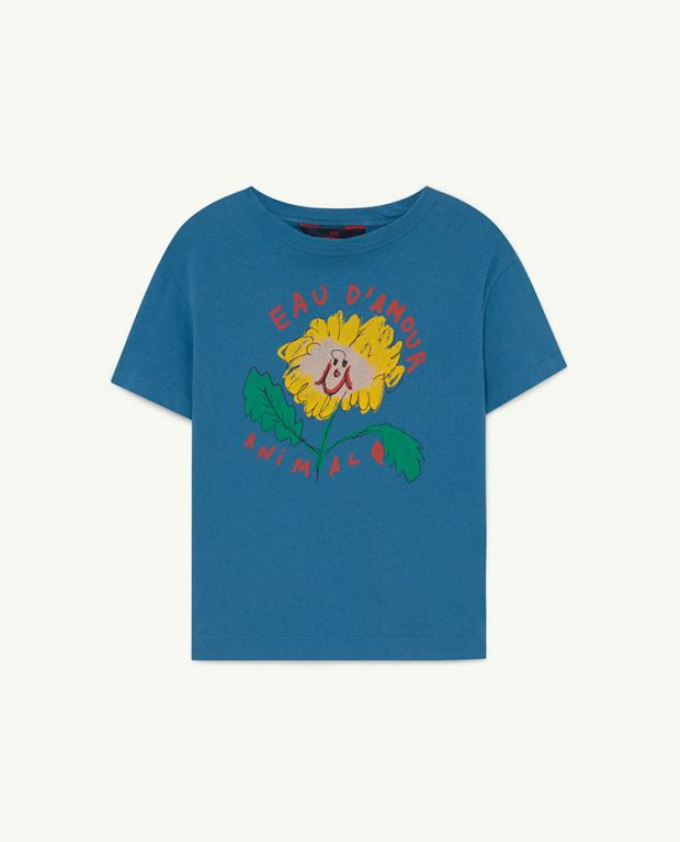 Recycled Soft Blue Eau d'Amour Rooster T-Shirt