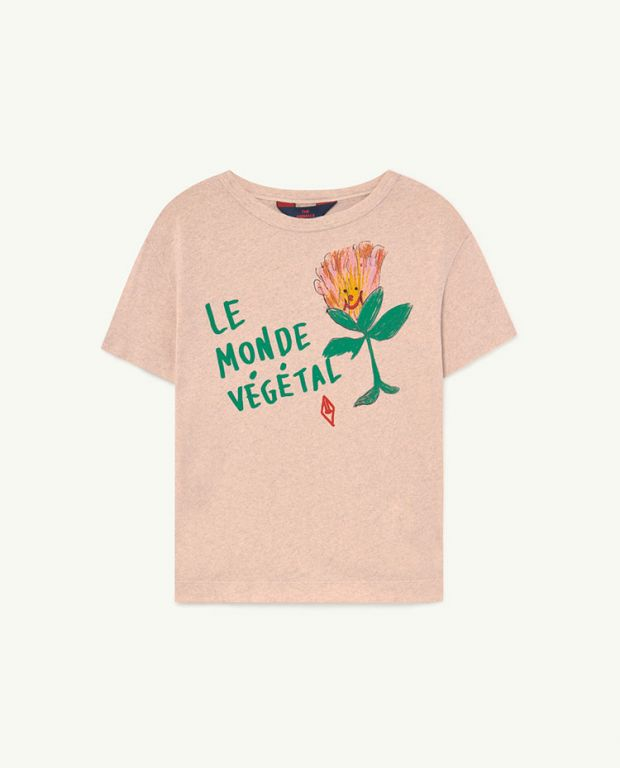 Recycled Soft Pink Le Monde Rooster T-Shirt