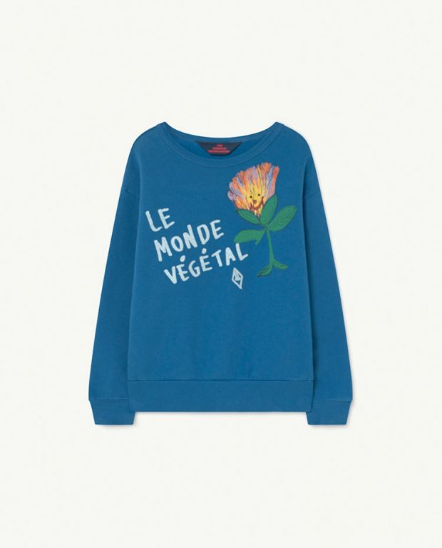 Recycled Blue Le Monde Bear Sweatshirt