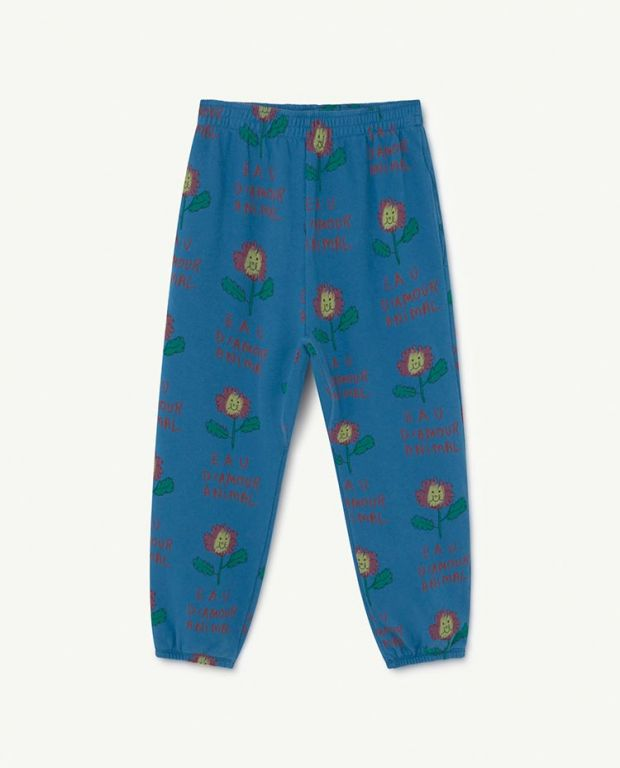 Recycled Blue Flowers Trousers