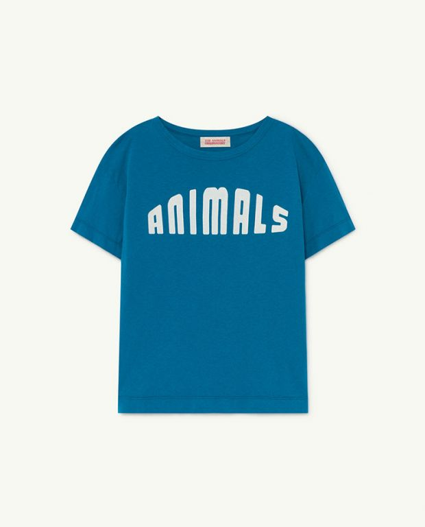 Blue Animals Rooster T-Shirt