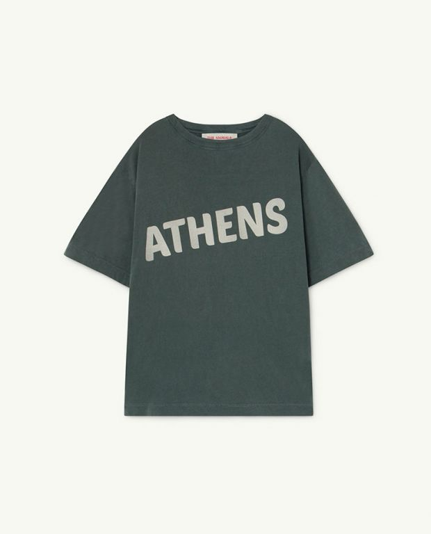 Deep Green Athens Rooster Oversize T-Shirt