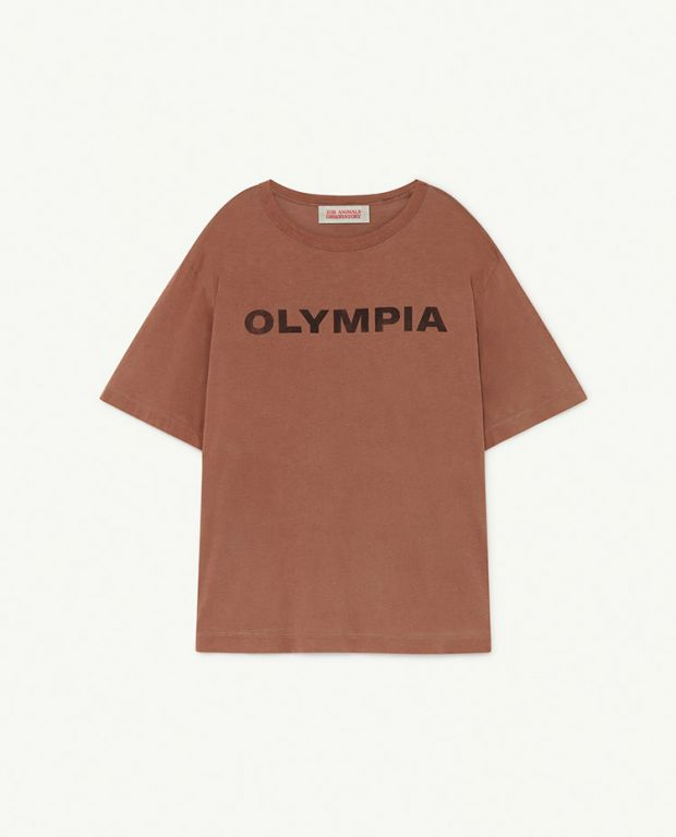 Brown Olympia Rooster Oversize T-Shirt