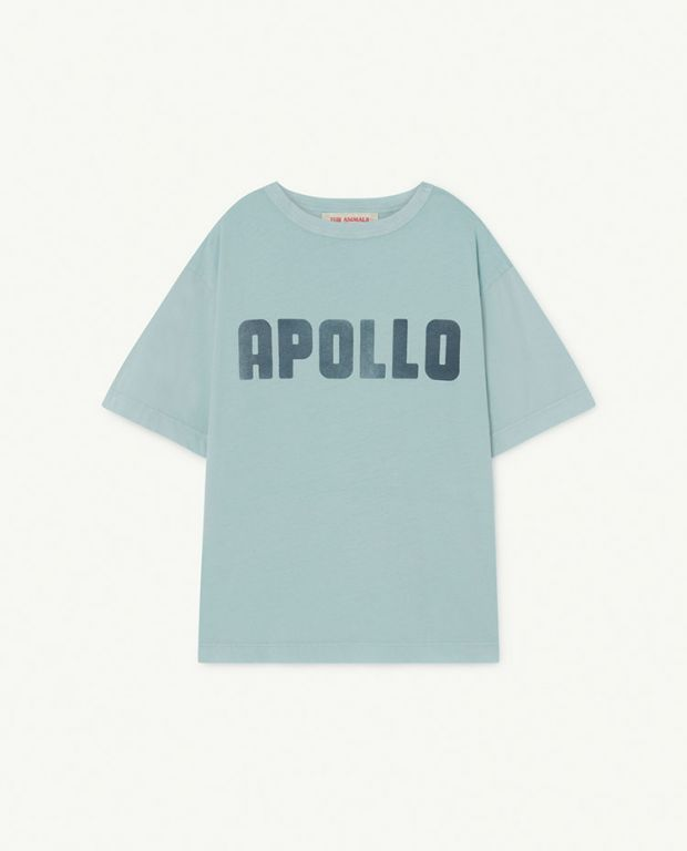 Soft Blue Apollo Rooster Oversize T-Shirt