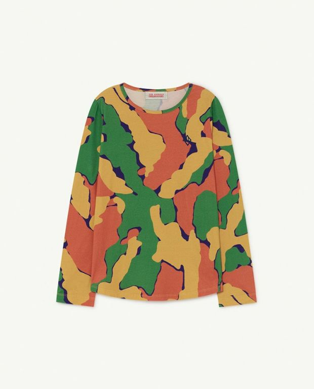 Multicolor Stain Deer T-Shirt