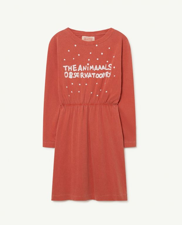 Red The Animals Crab Dress