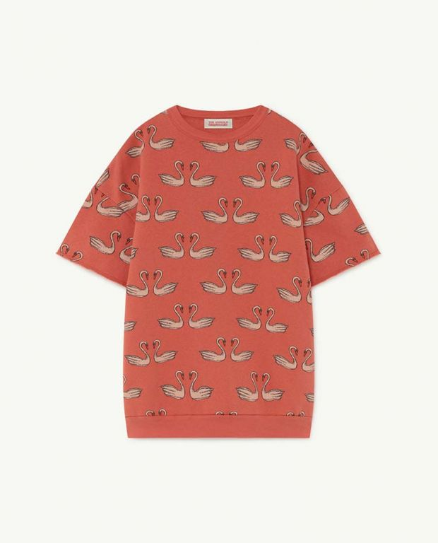 Red Swans Whale Dress