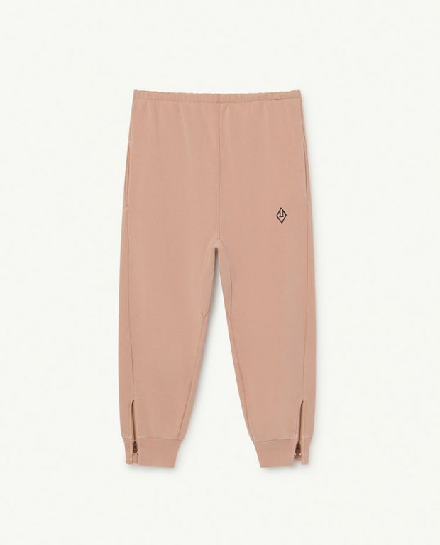 Soft Pink Logo Panther Trousers