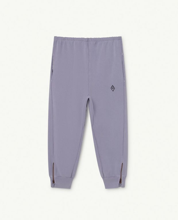 Soft Purple Logo Panther Trousers