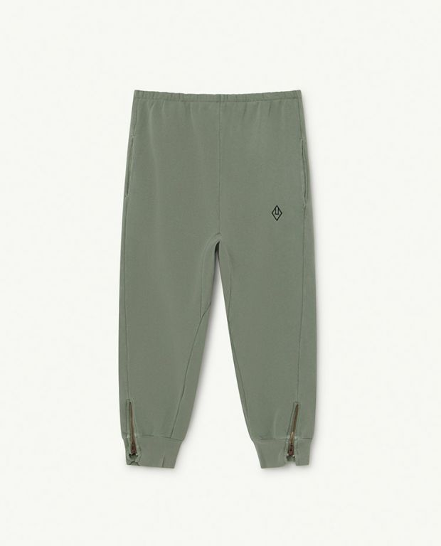 Soft Green Logo Panther Trousers