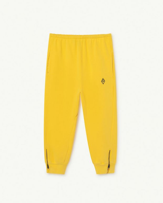Yellow Logo Panther Trousers