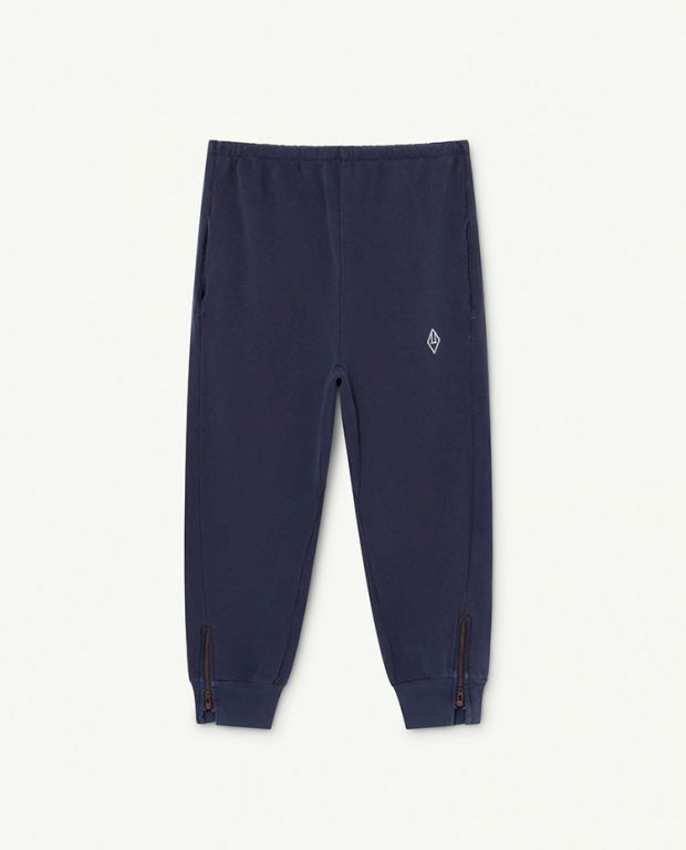 Deep Blue Logo Panther Trousers