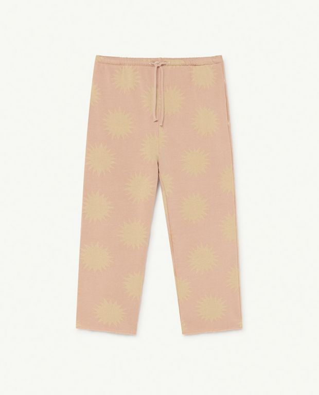 Soft Pink Suns Horse Trousers