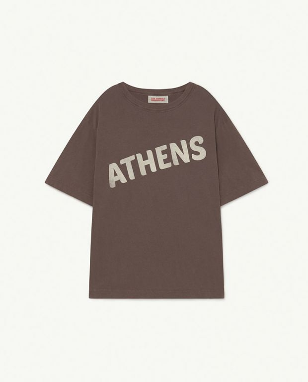 Deep Brown Athens Rooster Oversize T-Shirt