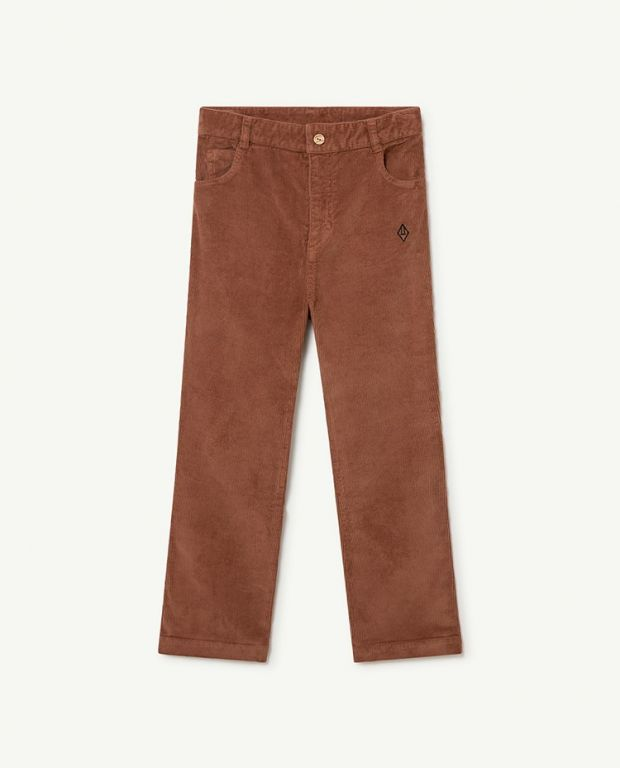Brown Logo Porcupine Trousers