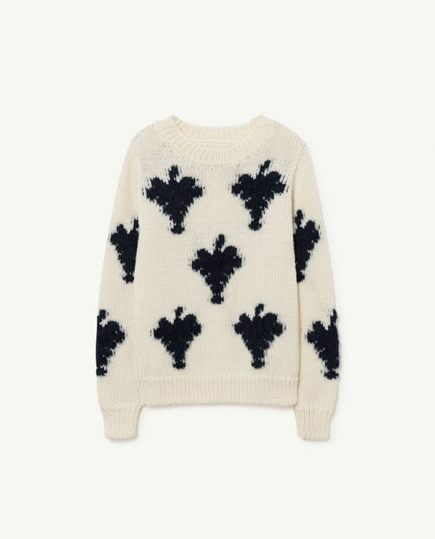 White Grapes Arty Bull Sweater
