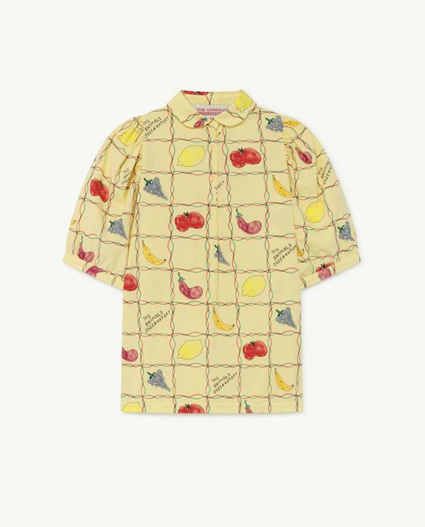 Soft Yellow Fruits Mouse Dress