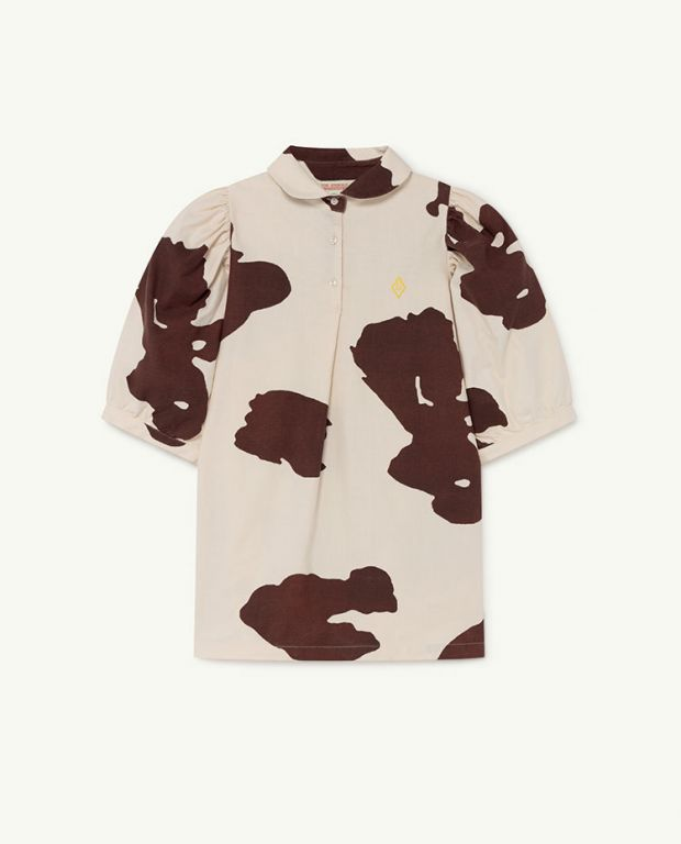 White Cow Mouse Dress