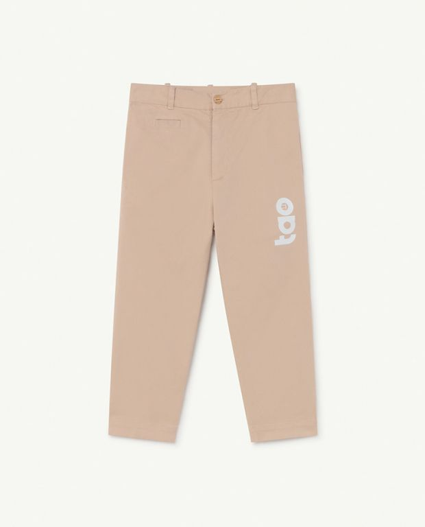 Soft Pink Logo Camel Trousers