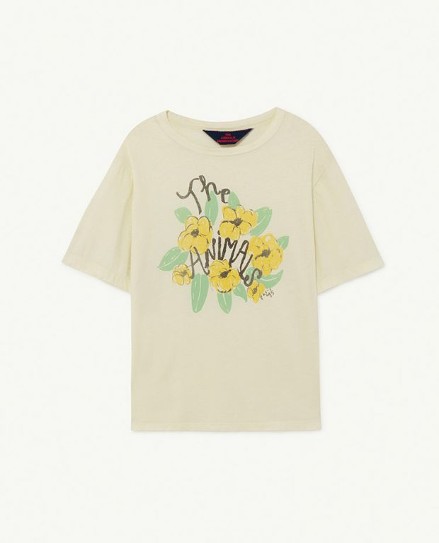 White Flowers Rooster Oversize T-shirt