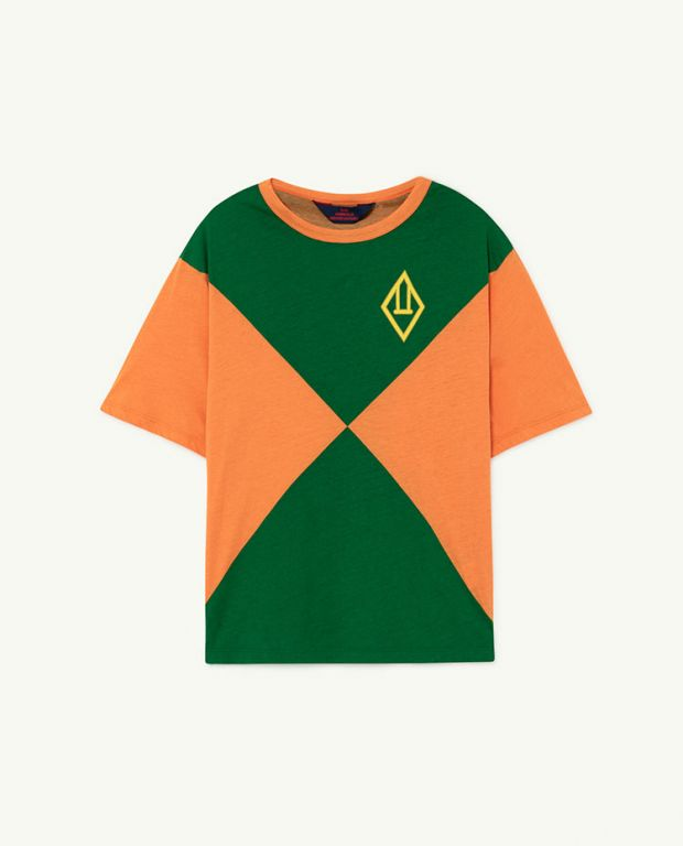 Orange Triangles Rooster Oversize T-shirt