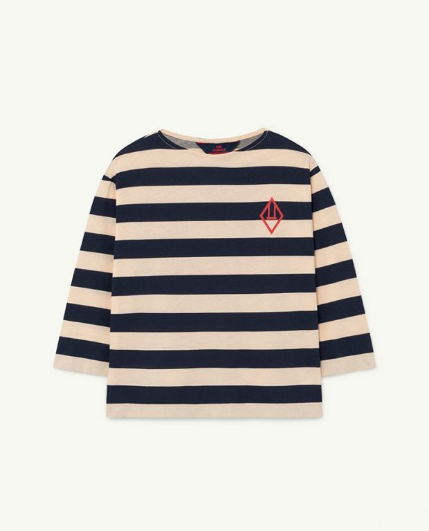 Peachy Stripes Anteater T-shirt