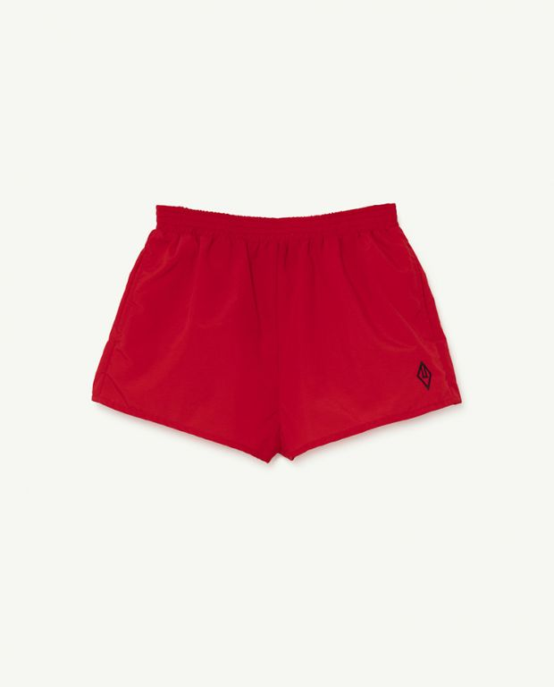 Red Logo Puppy Swimsuit
