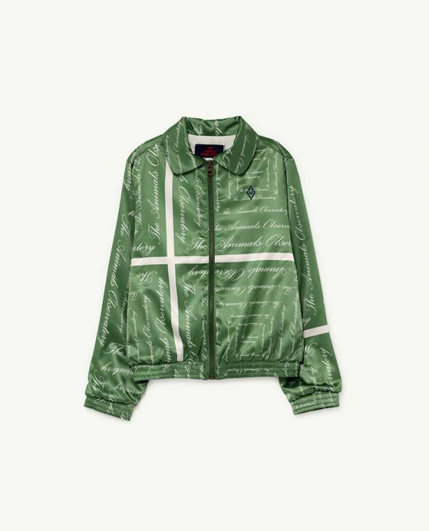 Green The Animals Silky Tiger Jacket