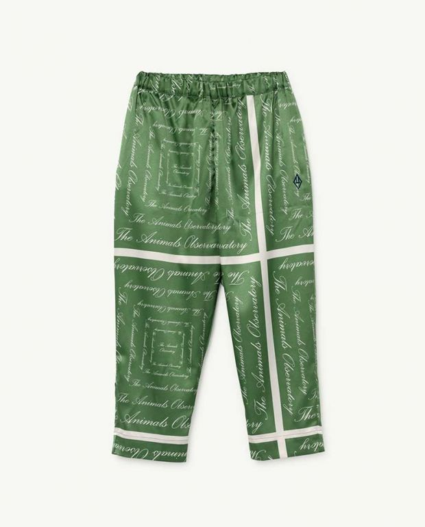 Green The Animals Silky Elephant Trousers