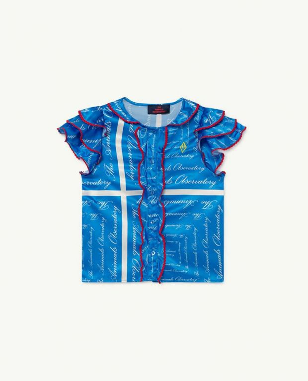 Blue The Animals Silky Parakeet Blouse