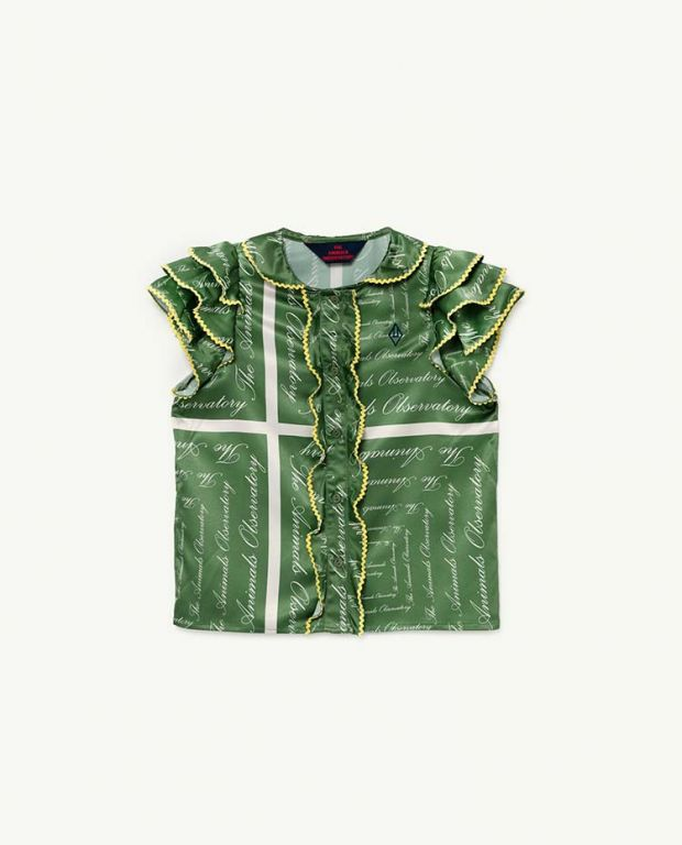 Green The Animals Silky Parakeet Blouse
