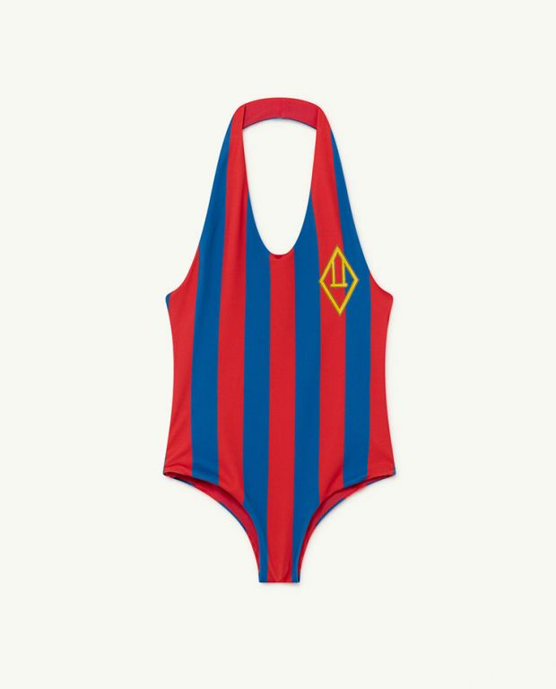 Red Stripes Fish Swimsuit