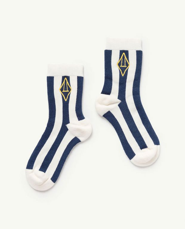 White Logo Skunk Socks
