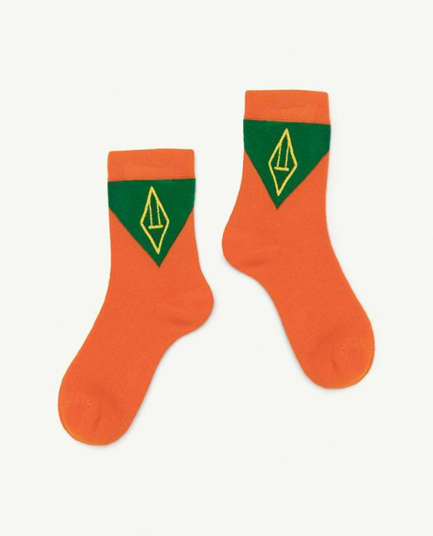 Orange Logo Skunk Socks