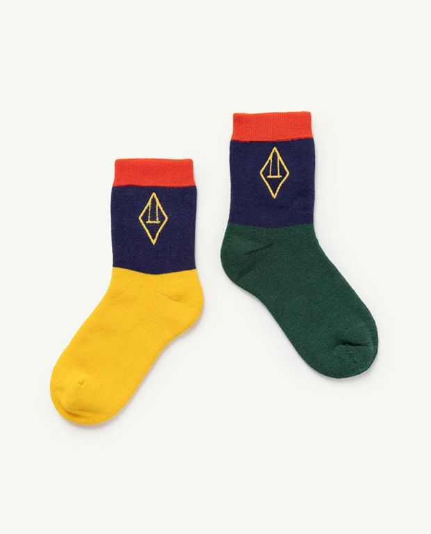 Navy Logo Skunk socks