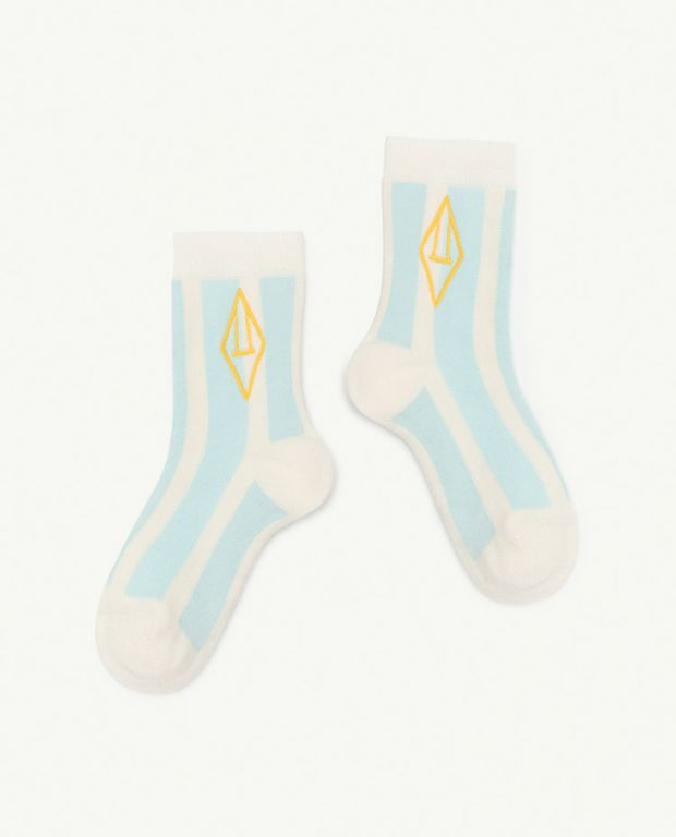 White-Blue Logo Skunk Socks